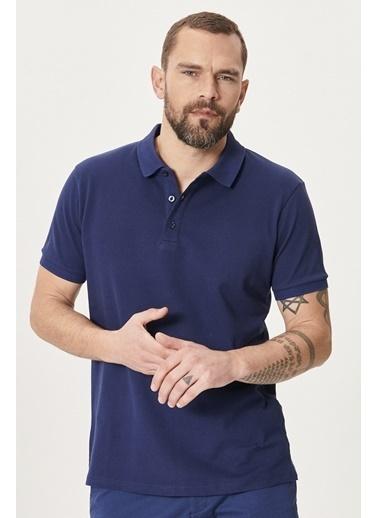 Altınyıldız Classics Polo Yaka Cepsiz Slim Fit Dar Kesim %100 Koton Düz Tişört 4A4820200001 Lacivert
